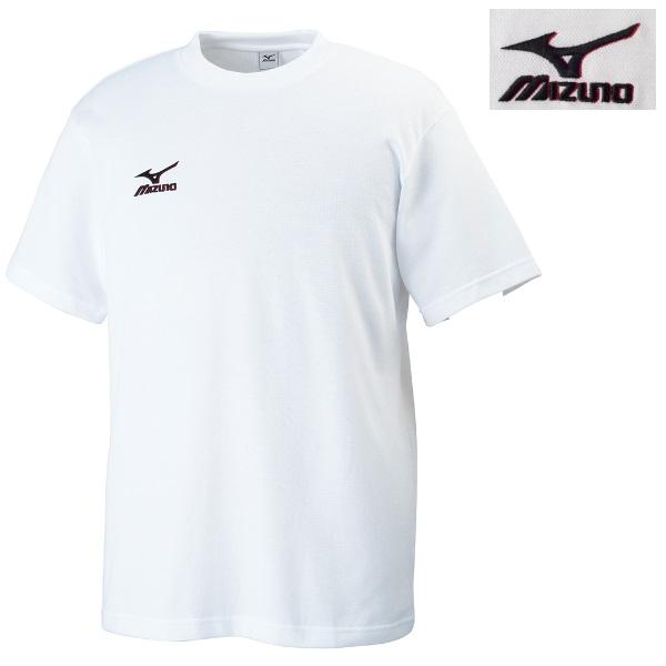 ミズノ 柔道 ワンポイント刺繍Tシャツ ホワイト×ブラック(79)